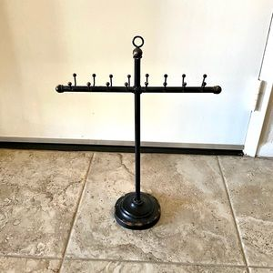 Tall Bronze Distressed Necklace Stand